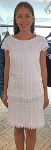 Laurel  white lace summer dress