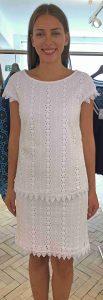Laurel  white lace summer dress