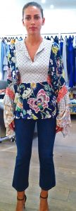 Liberty mix print belted blouse from Perseverance London