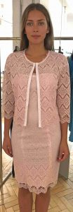 Dress and matching cardigan from Laurel.